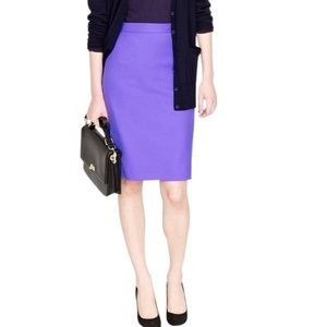 J. Crew No. 2 Pencil Skirt in Purple